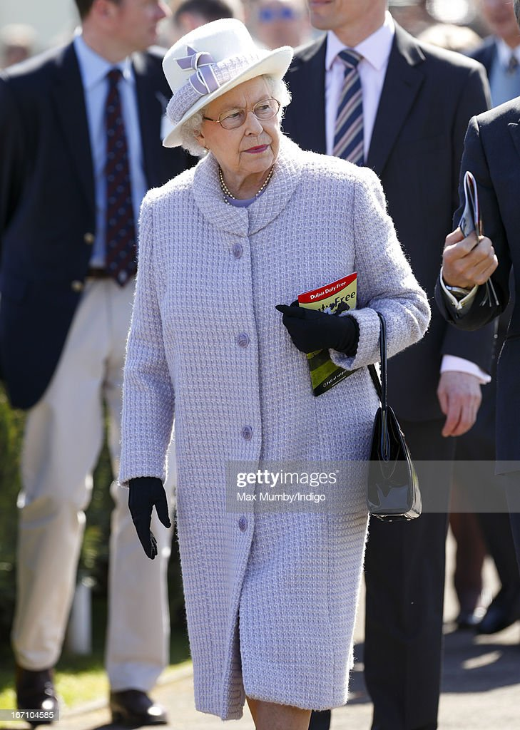 Queen Elizabeth II attends the New to Racing Day at Newbury Racecourse on April 20, 2013 in Newbury, England.