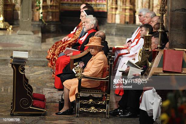 Queen Elizabeth II attends the ninth Inauguration of the General Synod at Westminster Abbey on November 23 2010 in London England Queen Elizabeth II...