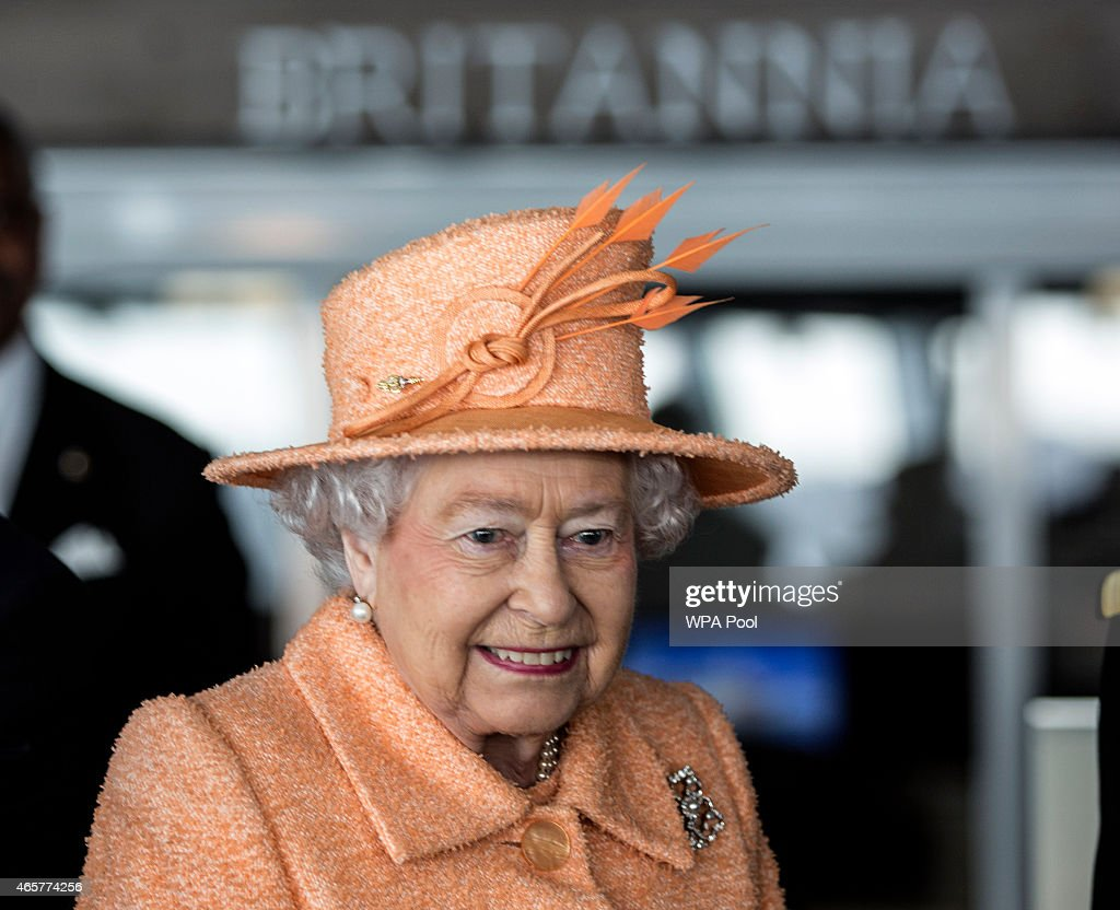 Queen Elizabeth II attends the official naming ceremony of 'Britannia' the new flagship P&O fleet at Ocean Cruise Terminal on March 10, 2015 in Southampton, England. Britannia will carry over 3647 passengers and at 141,000 tons she will boost P&O's cruise ship capacity by 24%.