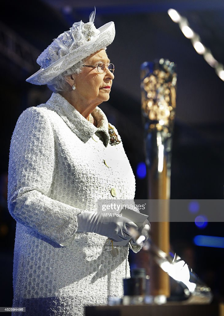 Queen Elizabeth II attends the Opening Ceremony for the Glasgow 2014 Commonwealth Games at Celtic Park on July 23, 2014 in Glasgow, Scotland.