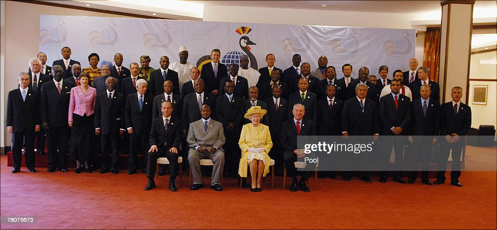 Queen Elizabeth II attends the opening ceremony of CHOGM 2007 at the Victoria hall, on November 23, 2007 in Kampala, Uganda. The Queen is in Uganda during the Commonwealth Heads of Govenment Meeting. CHOGM will be attended by over 5000 delegates including Britain's Prime Minister Gordon Brown.