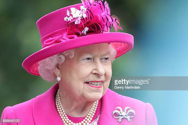 Queen Elizabeth II attends 'The Patron's Lunch' celebrations for The Queen's 90th birthday at on June 12 2016 in London England