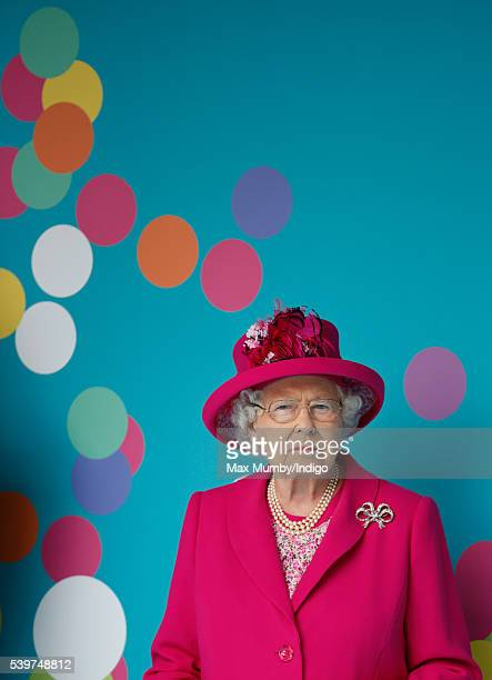 Queen Elizabeth II attends 'The Patron's Lunch' celebrations to mark her 90th birthday on The Mall on June 12 2016 in London England