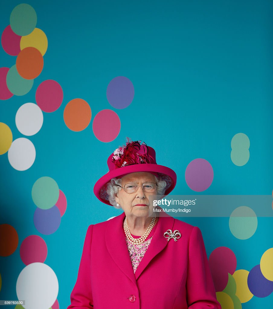 Queen Elizabeth II attends 'The Patron's Lunch' celebrations to mark her 90th birthday on The Mall on June 12, 2016 in London, England.