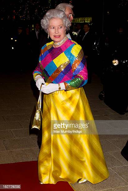 Queen Elizabeth II attends the Royal Variety Performance at the Birmingham Hippodrome on November 29 1999 in Birmingham England