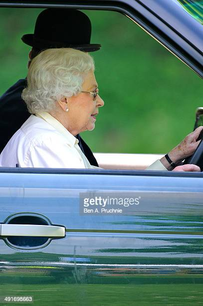 Queen Elizabeth II attends the Royal Windsor Horse Show at Home Park on May 17 2014 in Windsor England
