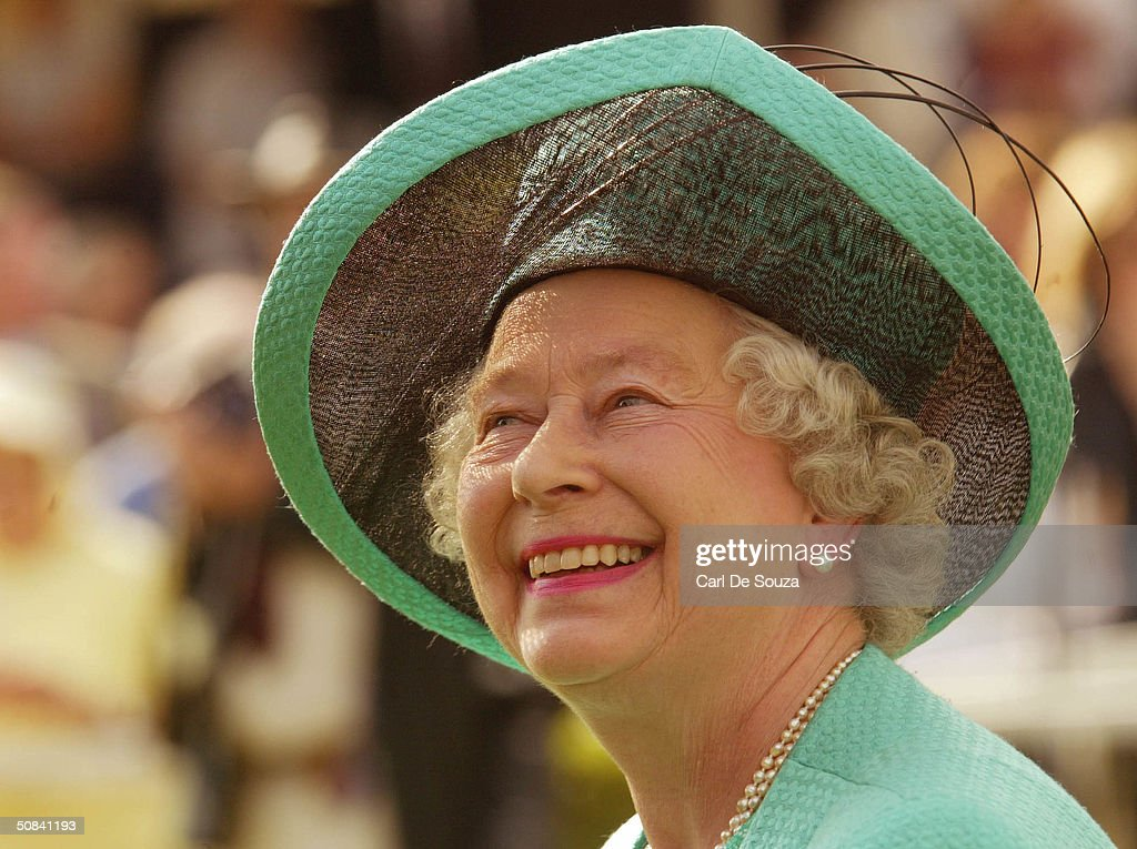 Queen Elizabeth II attends the third day of the Royal Windsor Horse Show at Home Park on May 15, 2004 in Windsor, England.
