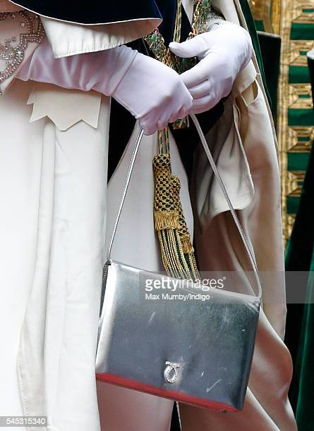 Queen Elizabeth II attends the Thistle Service at St Giles' Cathedral on July 7 2016 in Edinburgh Scotland The Most Ancient and Most Noble Order of...