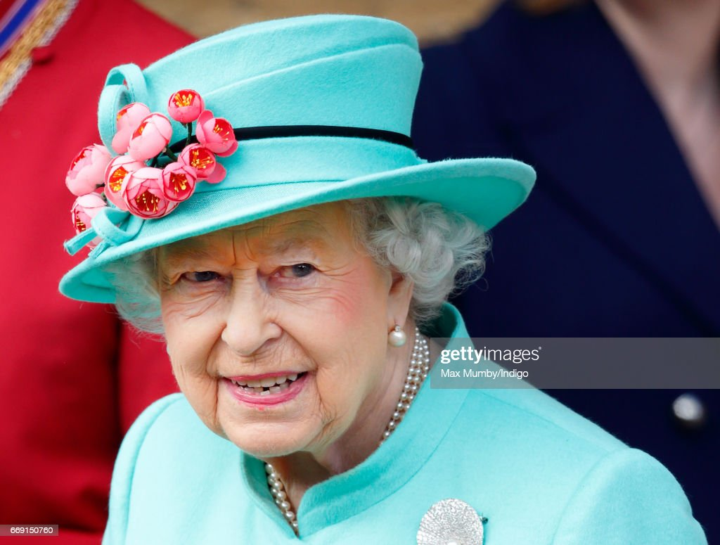 Queen Elizabeth II attends the traditional Easter Sunday church service at St George's Chapel, Windsor Castle on April 16, 2017 in Windsor, England.