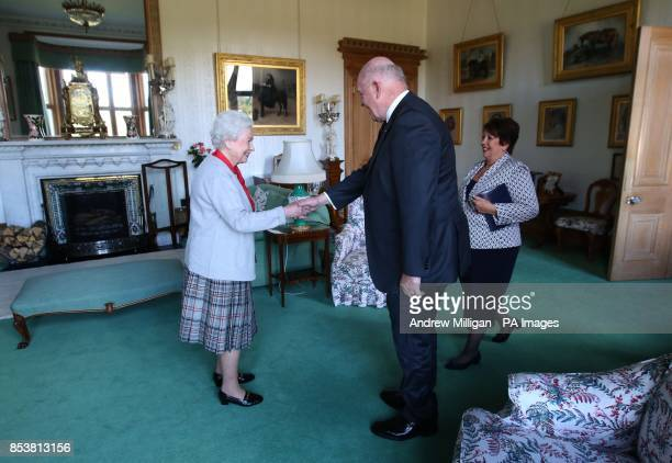 Queen Elizabeth II confers the honour of Knight of the Order of Australia upon His Excellency Sir Peter Cosgrove the GovernorGeneral of Australia...
