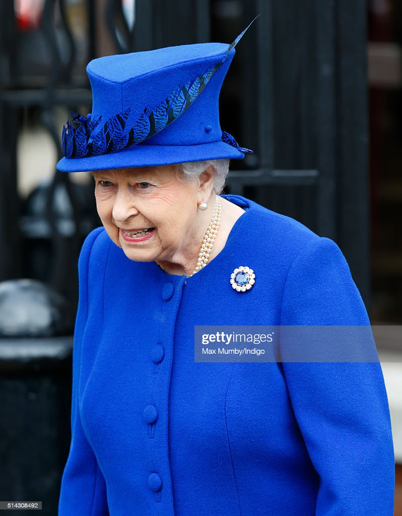 Queen Elizabeth II departs after visiting The Prince's Trust Centre in Kennington to mark the 40th anniversary of The Prince's Trust on March 8, 2016 in London, England.
