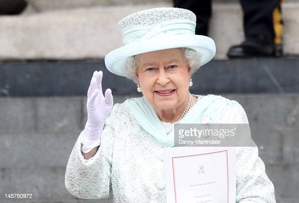Queen Elizabeth II departs the Service of Thanksgiving at St Paul's Cathedral as part of the Diamond Jubilee marking the 60th anniversary of the...