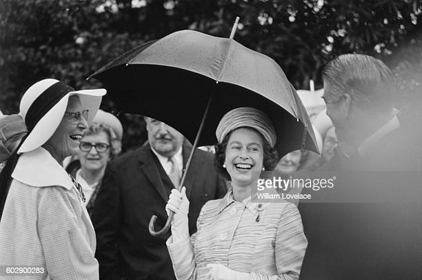 Queen Elizabeth II during a visit to Australia April 1970