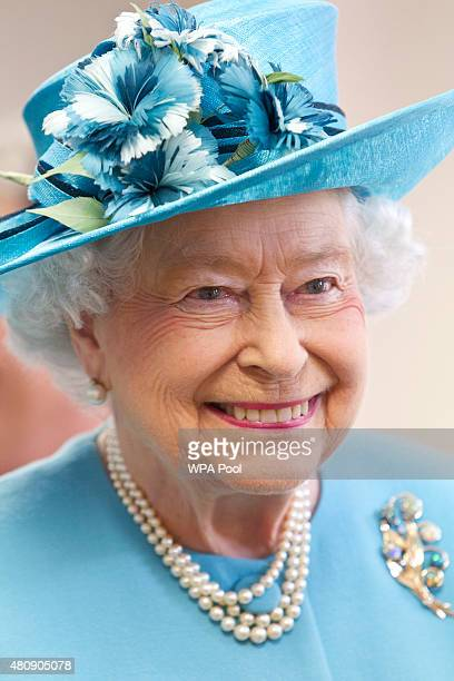 Queen Elizabeth II during a visit to Chadwell Heath Community Centre on July 16 in Chadwell Heath United Kingdom