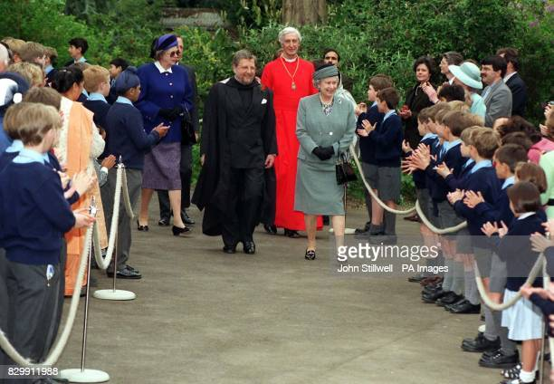 Queen Elizabeth II during a visit to St George's School Windsor today where she opened a 2 million first phase of a new development Accompany the...