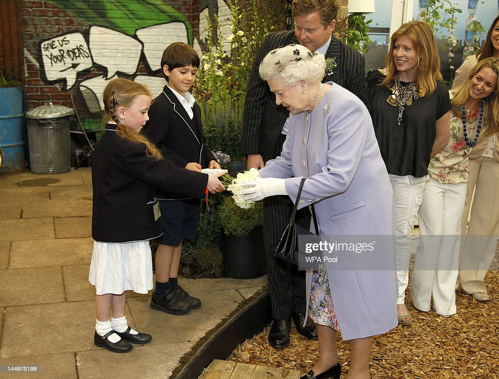 Queen Elizabeth II And The Duke Edinburgh Visit The Chelsea Flower Show