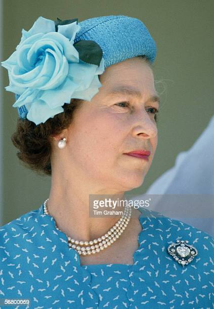 Queen Elizabeth II during a visit to Tuvalu in the South Pacific