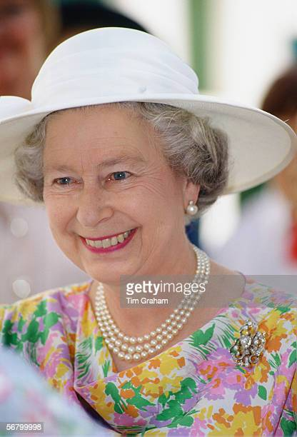 Queen Elizabeth II during an official visit to Cyprus