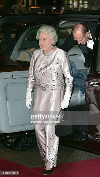 Queen Elizabeth II during 'Casino Royale' World Premiere Outside Arrivals at Odeon Leicester Square in London Great Britain