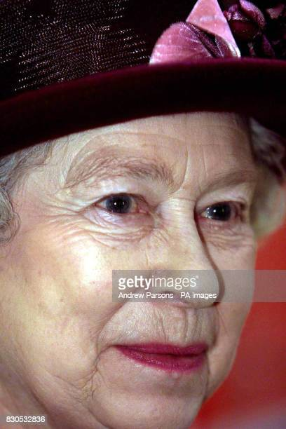 Queen Elizabeth II during her visit to the Special Educational Needs Unit and Learning Resource Centre at Smithdon High School in Hunstanton Norfolk