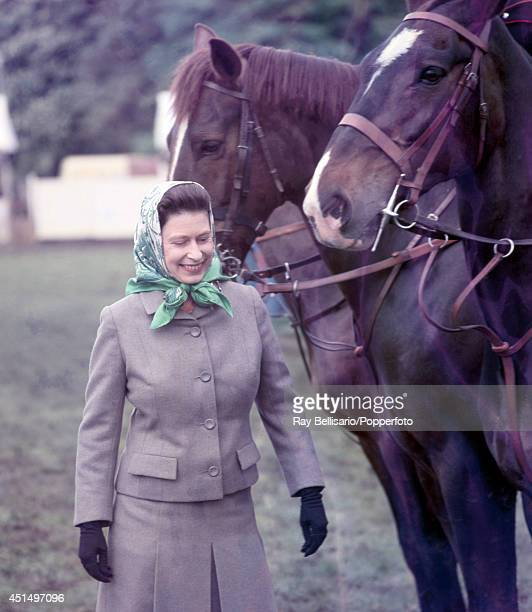 Queen Elizabeth II during the Royal Windsor Horse Show in Berkshire on 11th May 1968 Photo by Ray Bellsario/Popperfoto/Getty Images