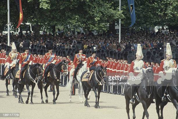 Queen Elizabeth II during the Trooping The Colour ceremony in London circa 1980