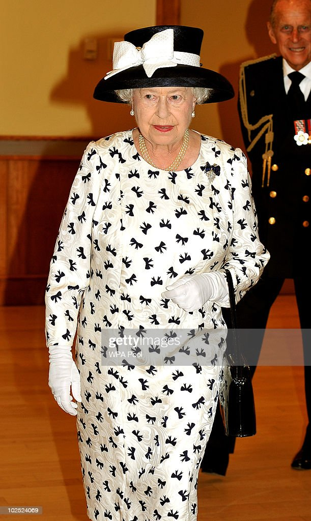 Queen <a gi-track='captionPersonalityLinkClicked' href=/galleries/search?phrase=Elizabeth+II&family=editorial&specificpeople=67226 ng-click='$event.stopPropagation()'>Elizabeth II</a>, followed by Prince Philip, Duke of Edinburgh, visit the Canadian combined forces base on June 29, 2010 in Halifax, Nova Scotia, Canada. Dozens of foreign ships gathered as part of celebrations marking the centenary of the Canadian Navy today. The Queen and Duke of Edinburgh are honouring the maritime achievements of the Commonwealth country during their royal tour of Canada.