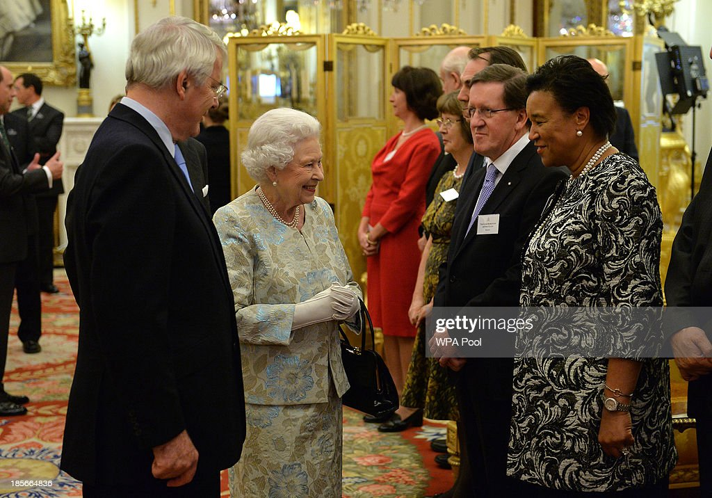 Reception For The Queen Elizabeth Diamond Jubilee Trust At Buckingham Palace