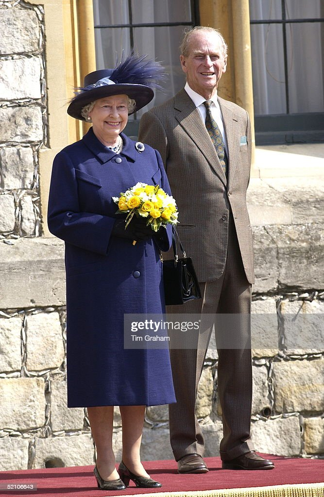Queen Elizabeth II Happy And Smiling And Accompanied By Prince Philip As She Celebrated Her 76th Birthday At Windsor Castle By Reviewing A Parade Of Queen's Scouts And Scouts From Commonwealth Member Countries. She Is Patron Of The Scout Association. It Was Her First Public Engagement After The Official Period Of Mourning Ended.