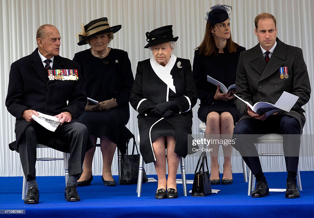 Queen Elizabeth II (C), her husband, Prince Philip, Duke of Edinburgh (L) and Prince William, Duke of Cambridge (R), attend a commemorative ceremony marking the centenary of the Gallipoli campaign on April 25, 2015 in London, England. The Gallipoli land campaign, in which a combined Allied force of British, French, Australian, New Zealand and Indian troops sought to occupy the Gallipoli peninsula and the strategic Dardanelles strait during World War I, began on April 25, 1915 against Turkish forces of the Ottoman Empire. The Allies, unable to advance more than a few kilometers, withdrew after eight months. The campaign cost the Allies approximately 45,000 killed and up to 200,000 wounded, the Ottomans approximately 85,000 killed and 160,000 wounded.