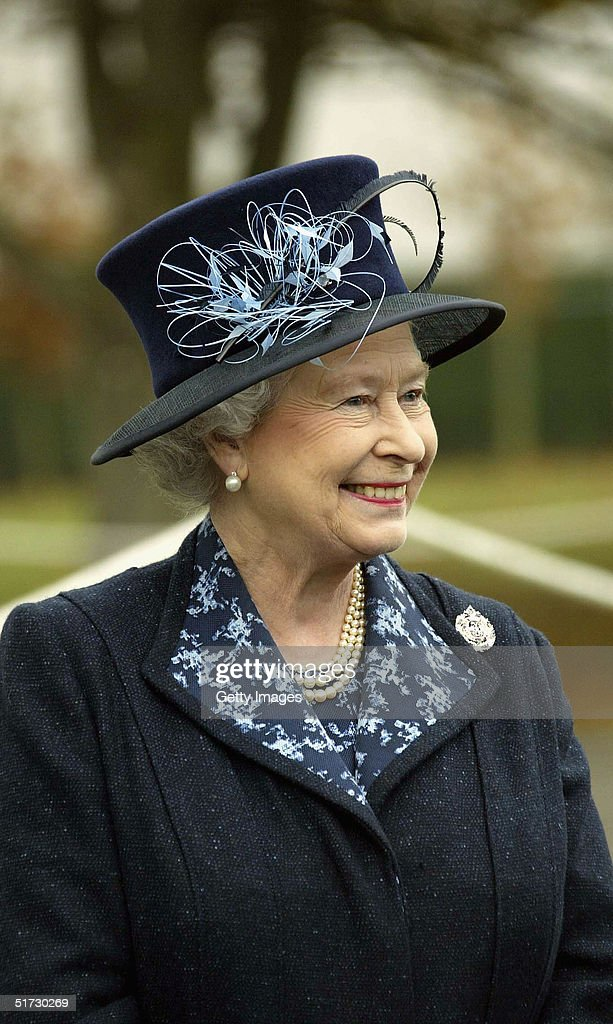 HRH Queen <a gi-track='captionPersonalityLinkClicked' href=/galleries/search?phrase=Elizabeth+II&family=editorial&specificpeople=67226 ng-click='$event.stopPropagation()'>Elizabeth II</a> in buoyant mood at Howe Barracks in Canterbury, November 9 2004 in Kent, England. The Queen presented soldiers with Operational Service Medals for their service and was expected to meet some of the families of those currently serving with the battalion.