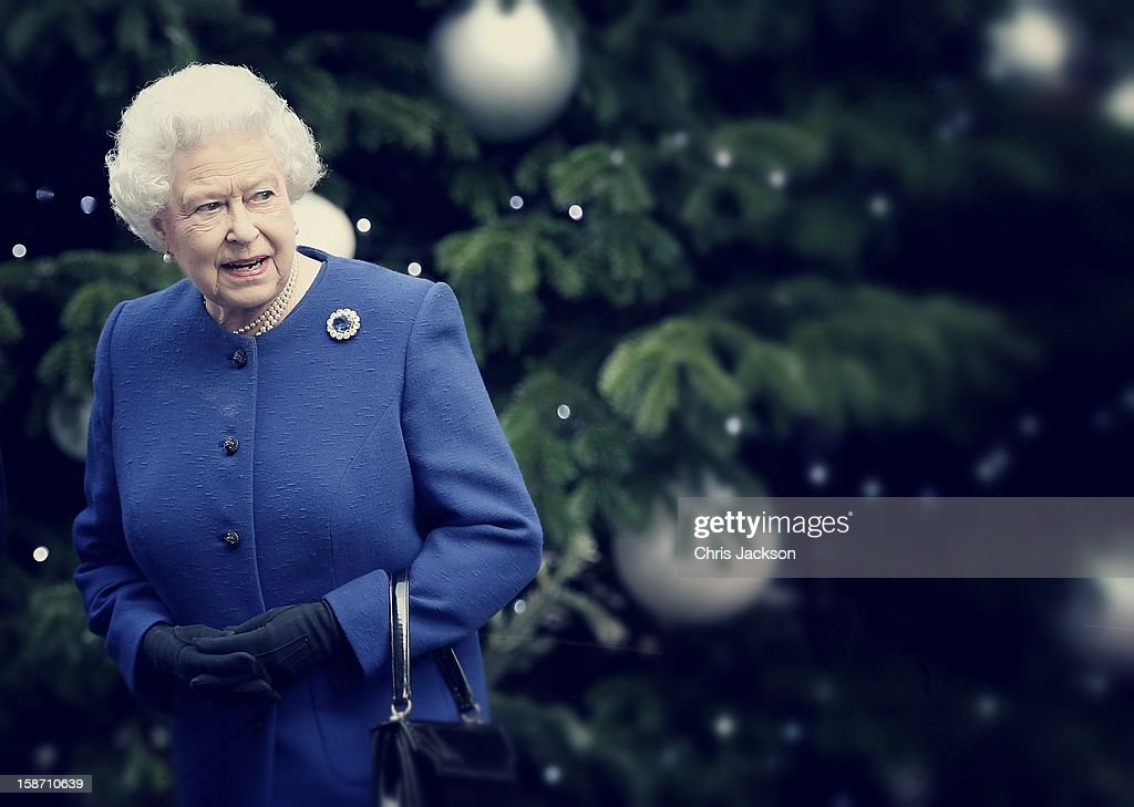 Queen <a gi-track='captionPersonalityLinkClicked' href=/galleries/search?phrase=Elizabeth+II&family=editorial&specificpeople=67226 ng-click='$event.stopPropagation()'>Elizabeth II</a> is greeted by Prime Minister David Cameron as she arrives at Number 10 Downing Street to attend the Government's weekly Cabinet meeting on December 18, 2012 in London, England.