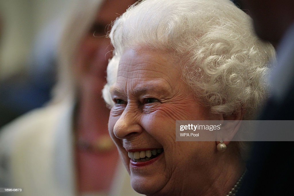 Queen <a gi-track='captionPersonalityLinkClicked' href=/galleries/search?phrase=Elizabeth+II&family=editorial&specificpeople=67226 ng-click='$event.stopPropagation()'>Elizabeth II</a> is seen during a reception to celebrate the 60th Anniversary of the ascent of Everest, at the Royal Geographical Society in Kensington, on May 29, 2013 in Kensington, West London, England.