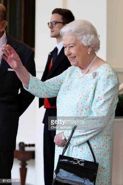 Queen Elizabeth II is seen during a State visit by the King and Queen of Spain on July 14 2017 in London England This is the first state visit by the...