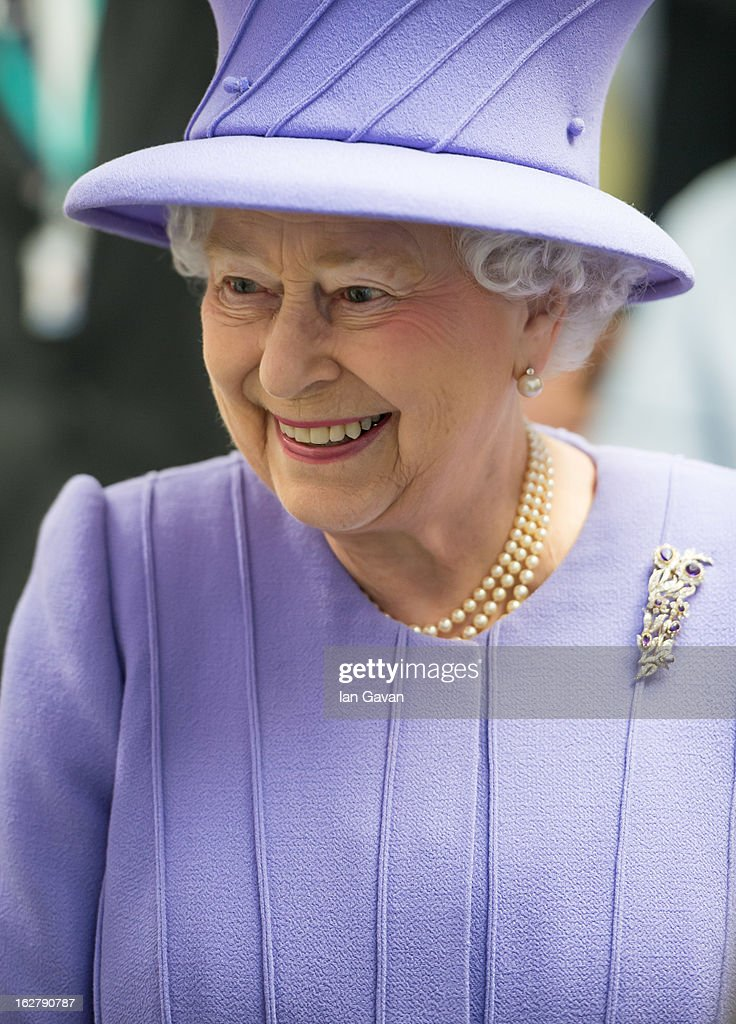 Queen <a gi-track='captionPersonalityLinkClicked' href=/galleries/search?phrase=Elizabeth+II&family=editorial&specificpeople=67226 ng-click='$event.stopPropagation()'>Elizabeth II</a> is seen during her tour to open the new Royal London Hospital building and the new National Centre for Bowel Research and Surgical Innovation on February 27, 2013 in London, England.