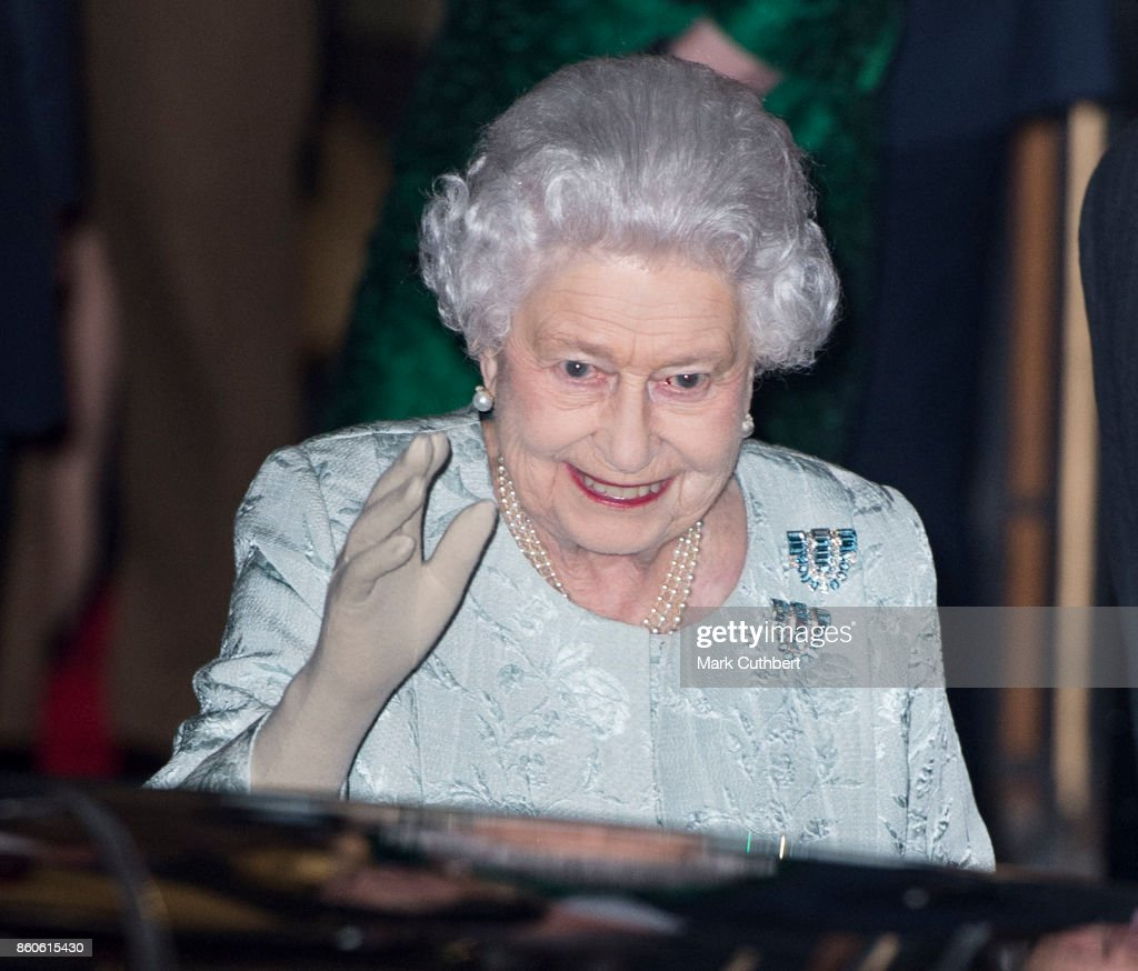 The Queen & Princess Royal Attend WRNS 100 At the Army & Navy Club