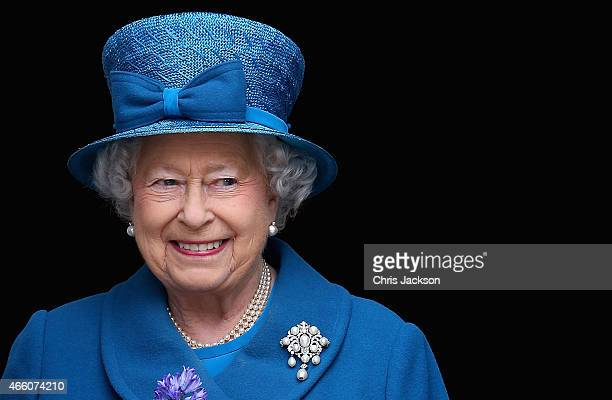 Queen Elizabeth II leaves St Paul's Cathedral after a Service of Commemoration for troops who were stationed in Afghanistan on March 13 2015 in...