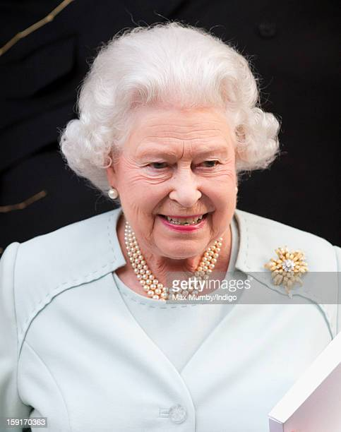 Queen Elizabeth II leaves the Goring Hotel after attending a Christmas Lunch for her close members of staff on December 03 2012 in London England