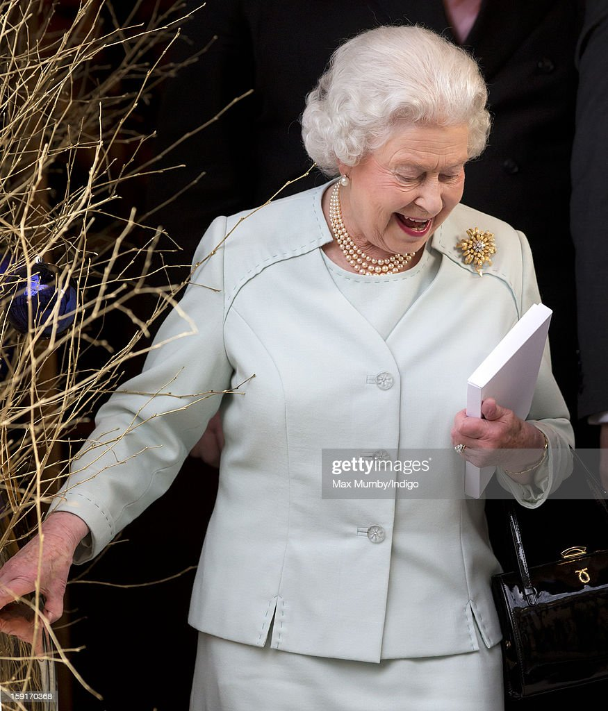 Queen Elizabeth II leaves the Goring Hotel after attending a Christmas Lunch for her close members of staff on December 03, 2012 in London, England.