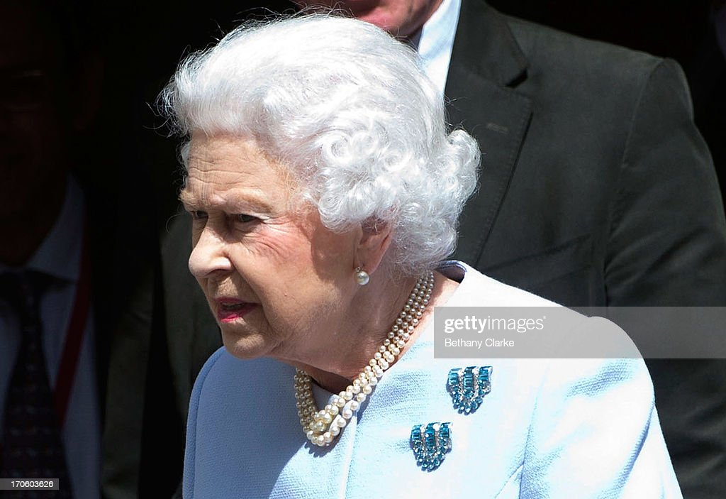 Queen Elizabeth II leaves the London Clinic after visiting her husband Prince Philip, Duke of Edinburgh on June 15, 2013 in London, England. The Duke of Edinburgh is recovering in hospital after undergoing exploratory abdominal surgery.