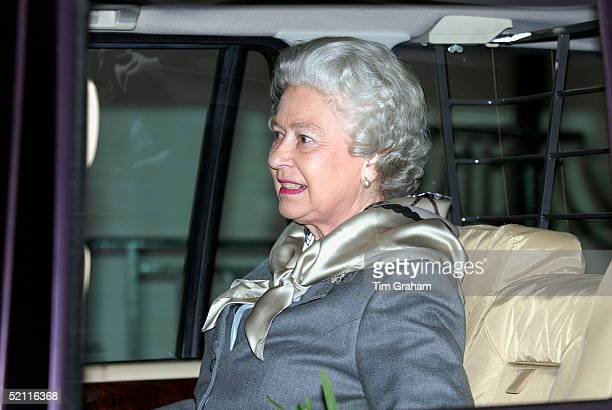 Queen Elizabeth II Leaving Hospital In A Range Rover Fourwheel Drive Vehicle She Had Had Surgery To Remove Cartilage In Her Injured Knee