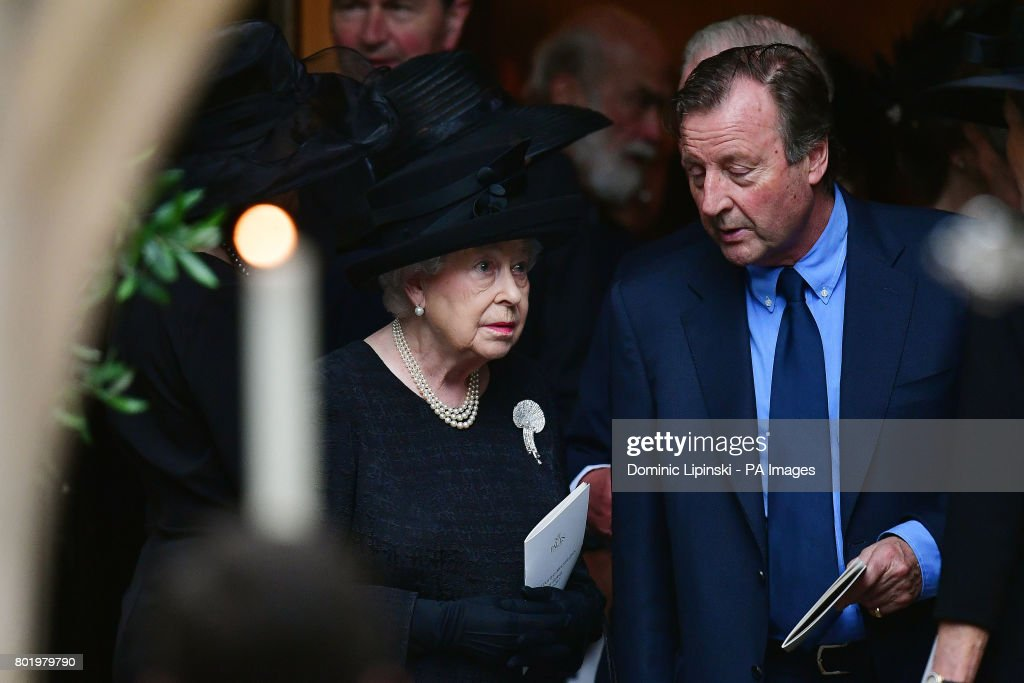 Queen Elizabeth II leaving the funeral of Countess Mountbatten of Burma at St Paul's Church, Knightsbridge, London.