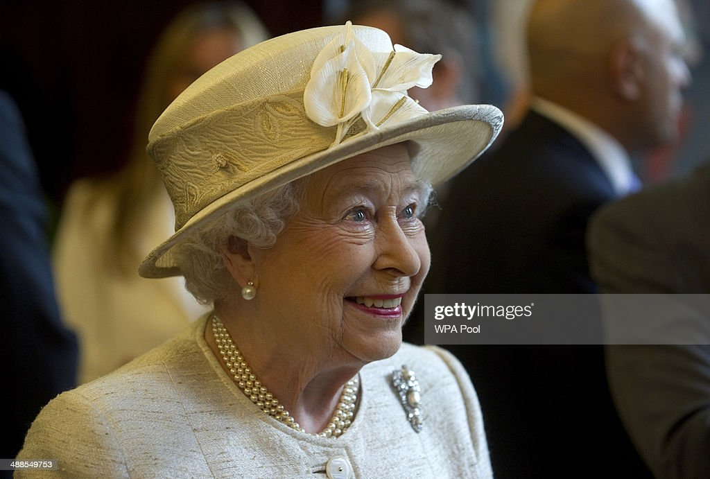 Queen Elizabeth II looks on during a visit to the Journalists' Charity at the Stationers' Hall on May 7, 2014 in London, England. They were met by Lord Rothermere, President, Journalists' Charity and Mr Tom Hempenstall, Master of Stationers' Company, they also met senior media executives, journalists, industry figures and sponsors.