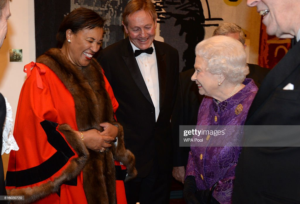 The Queen And The Duke Of Edinburgh Attend A Reception For The High Commissioners' Banquet