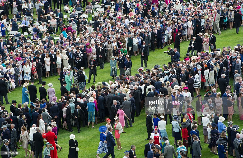 Elevated View Of The Queen 39 S Garden Party Getty Images