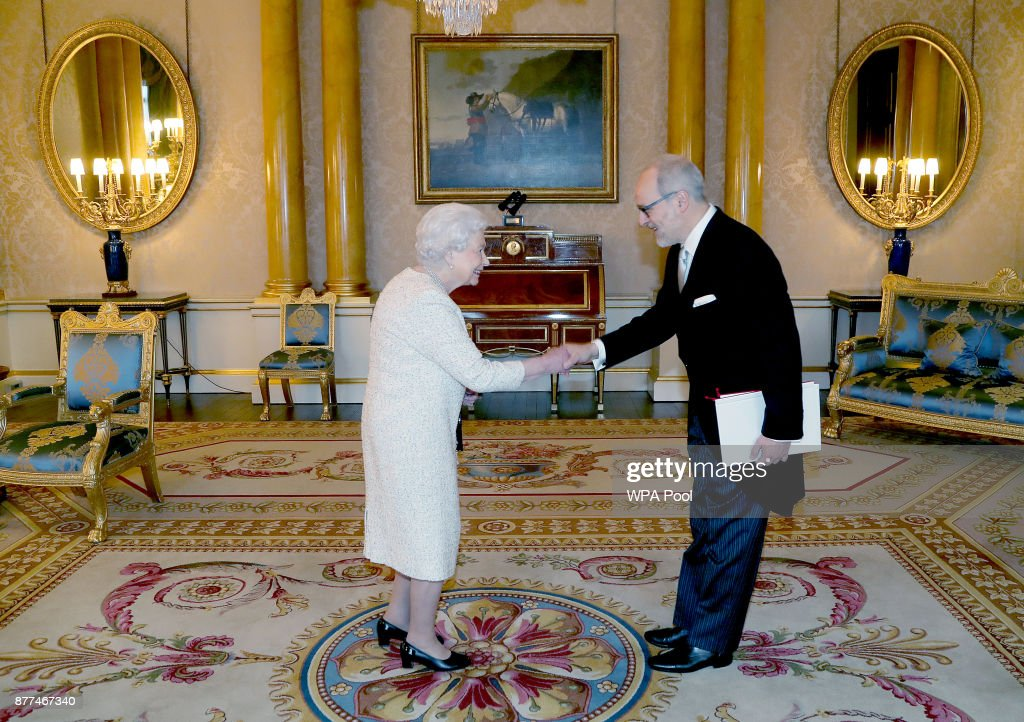 The Queen Holds Audience At Buckingham Palace