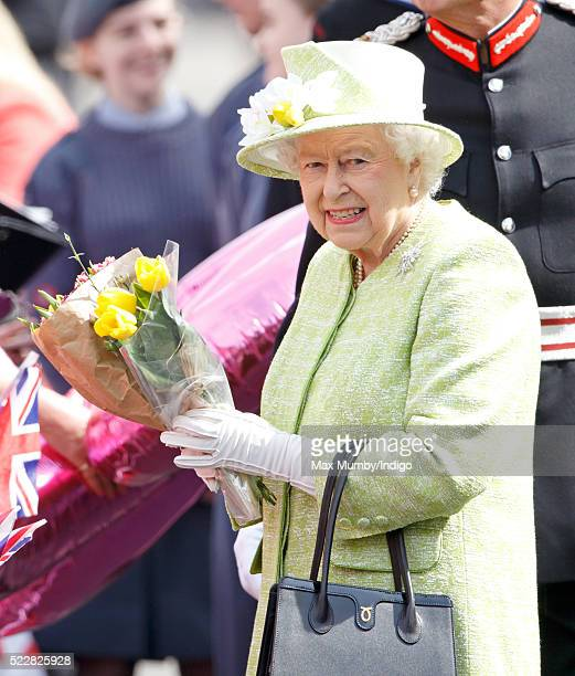 Queen Elizabeth II meets the public during her 90th Birthday Walkabout on April 21 2016 in Windsor England Today is Queen Elizabeth II's 90th Birthday