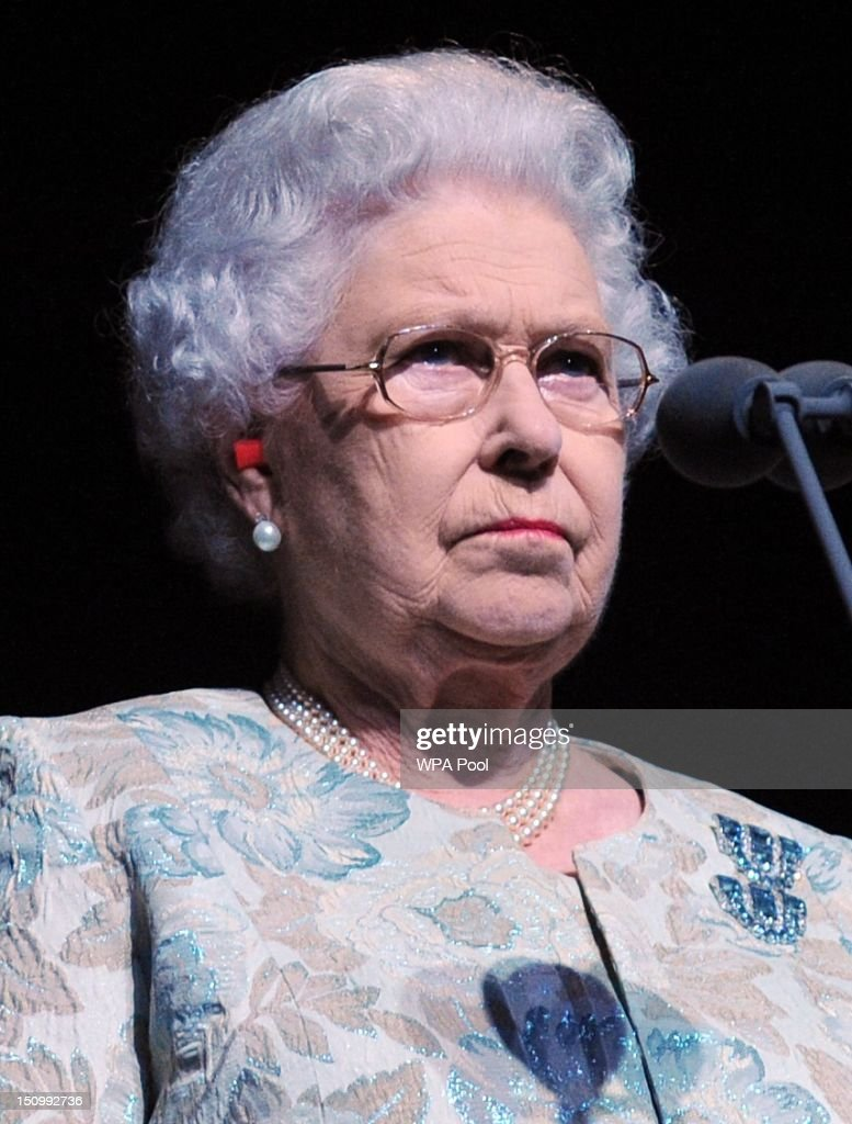 Queen <a gi-track='captionPersonalityLinkClicked' href=/galleries/search?phrase=Elizabeth+II&family=editorial&specificpeople=67226 ng-click='$event.stopPropagation()'>Elizabeth II</a> officially opens the London 2012 Paralympic Games during the opening ceremony at the Olympic Stadium on August 29, 2012 in London, England.