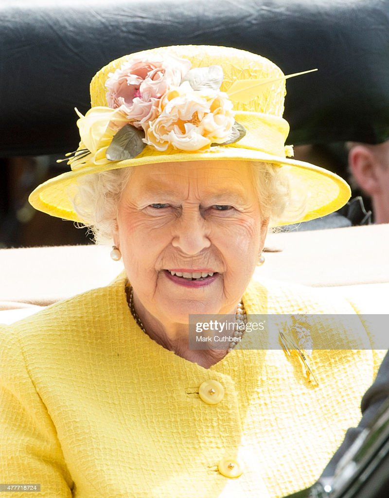 Queen Elizabeth II on day 4 of Royal Ascot at Ascot Racecourse on June 19, 2015 in Ascot, England.
