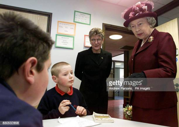 Queen Elizabeth II opens the new building The Special Educational Needs Unit and The Learning Resource Centre at Smithdon High School in Hunstanton...